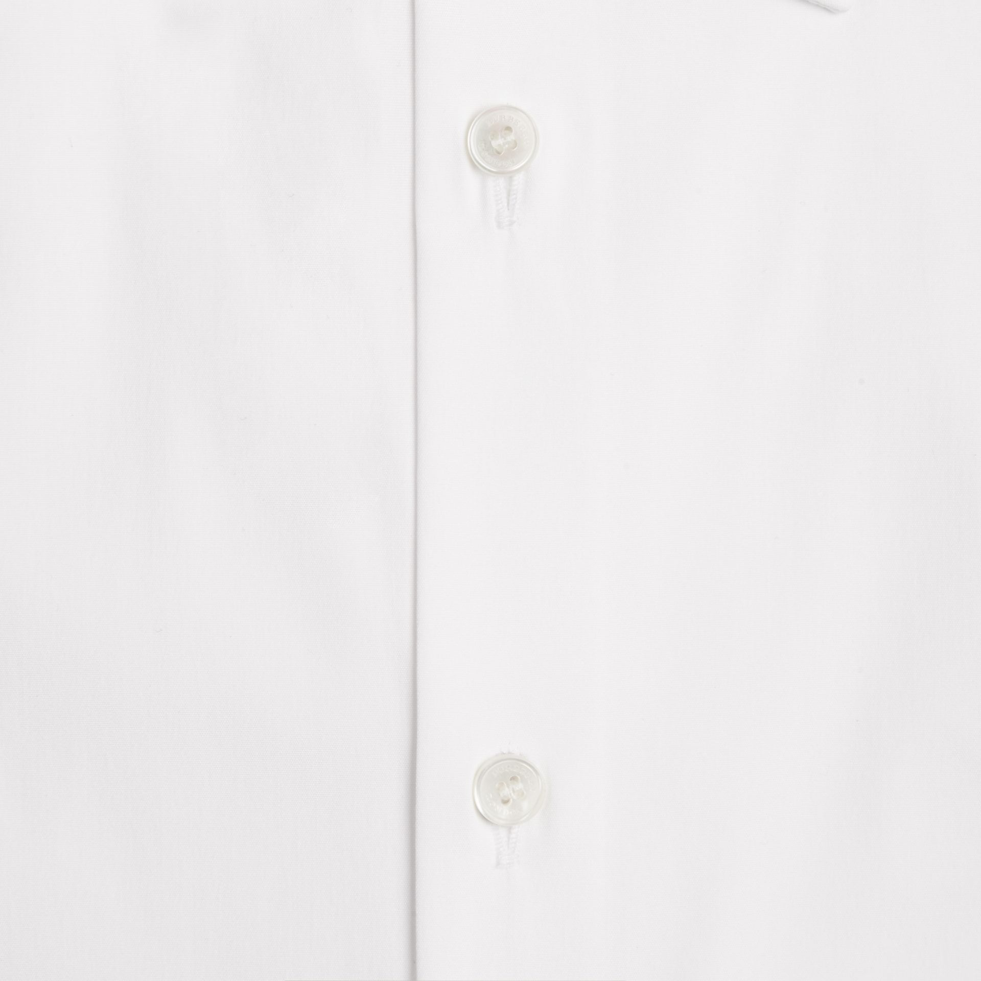 White Modern Fit Short-sleeved Stretch Cotton Shirt - gallery image 2