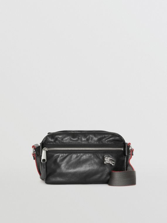 EKD Nappa Leather Crossbody Bag in Black