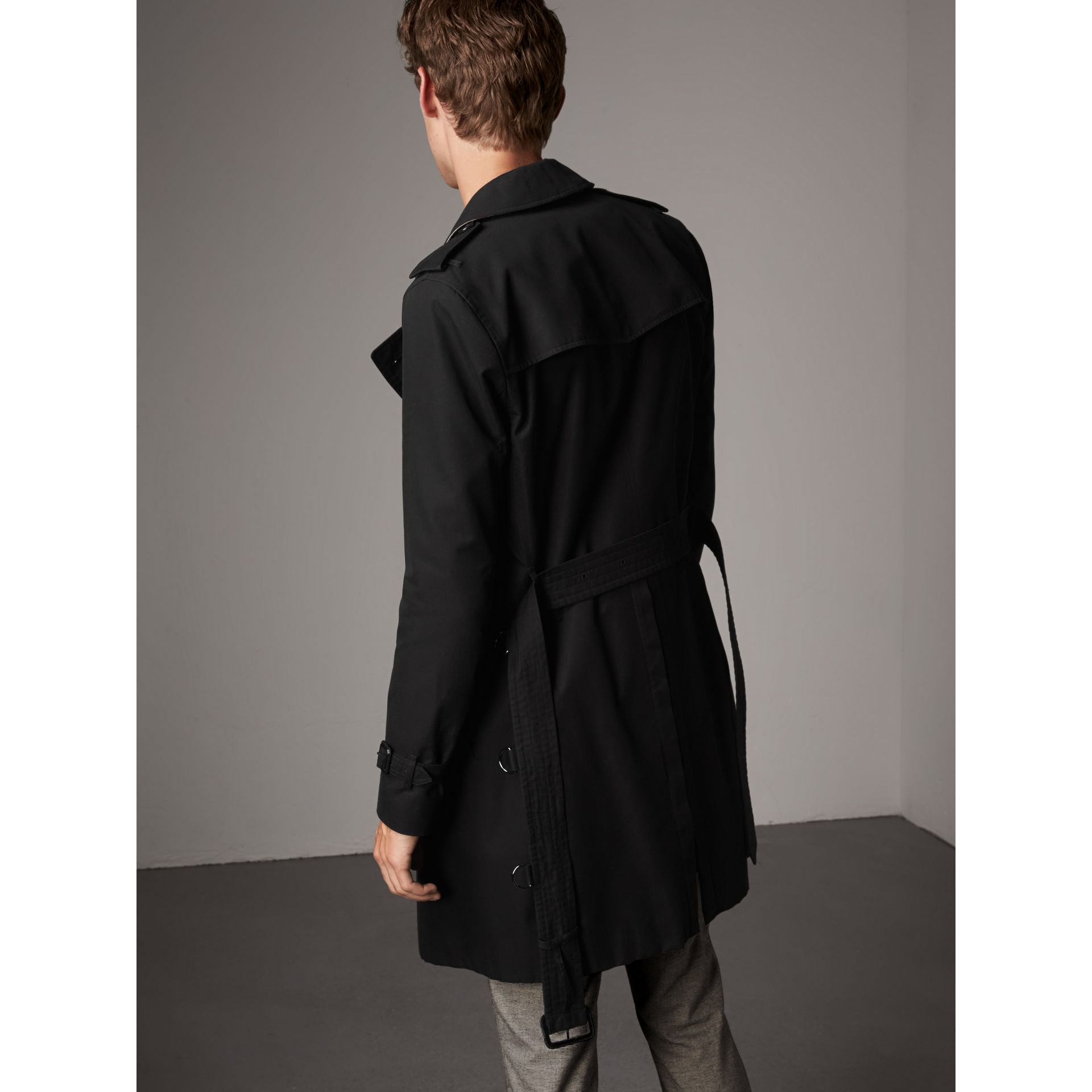 The Sandringham – Long Trench Coat in Black - Men | Burberry Canada - gallery image 2