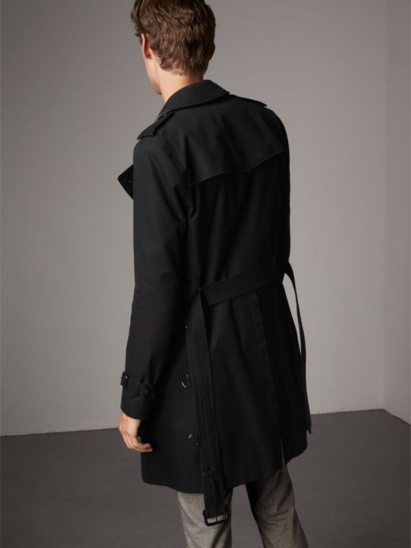 The Sandringham – Long Trench Coat in Black - Men | Burberry Singapore - cell image 2