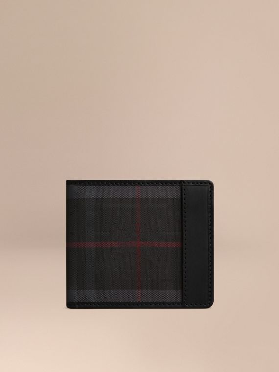 Horseferry Check International Bifold Wallet in Charcoal/black - Men | Burberry Canada