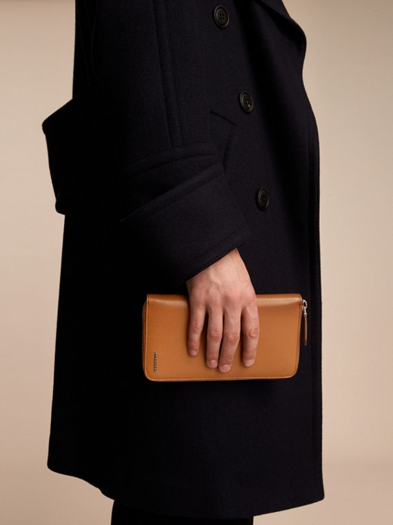 London Leather Ziparound Wallet in Tan | Burberry Australia - cell image 2