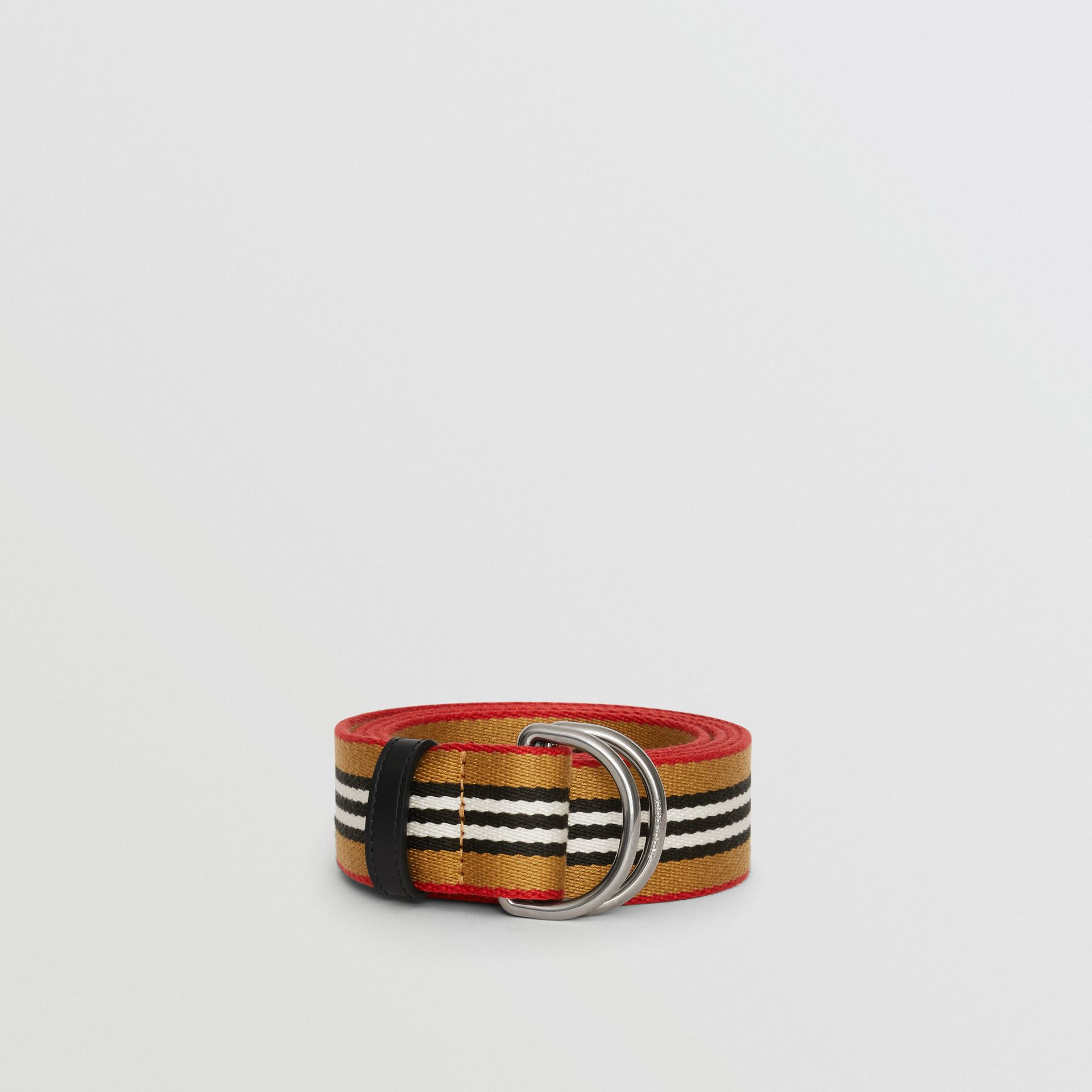 Heritage Stripe Double D-ring Belt in Vintage Check - Women | Burberry - gallery image 2