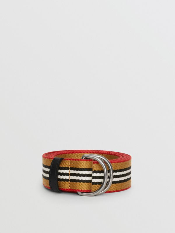 Heritage Stripe Double D-ring Belt in Vintage Check - Women | Burberry - cell image 2