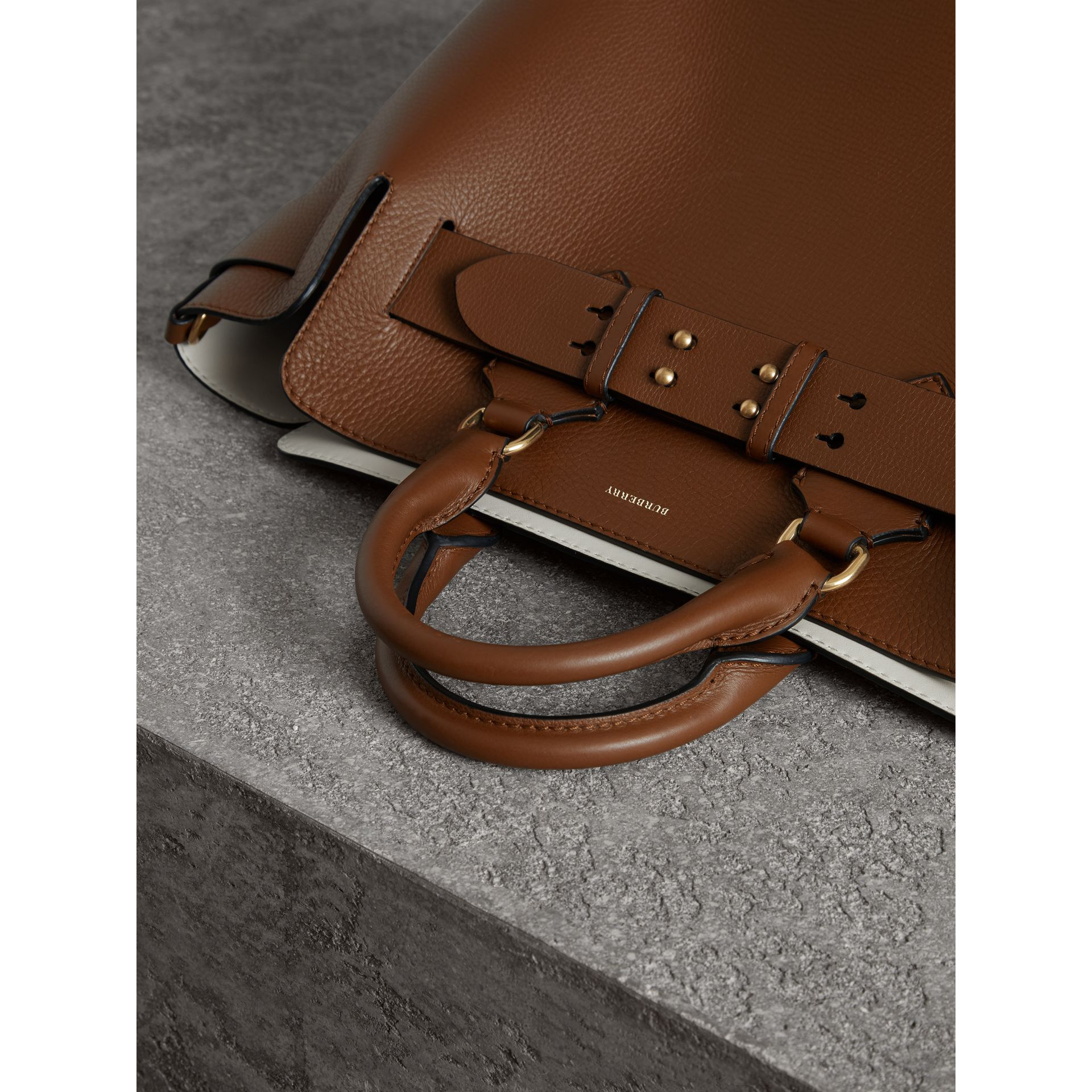 The Medium Leather Belt Bag in Tan - Women | Burberry Singapore - gallery image 1