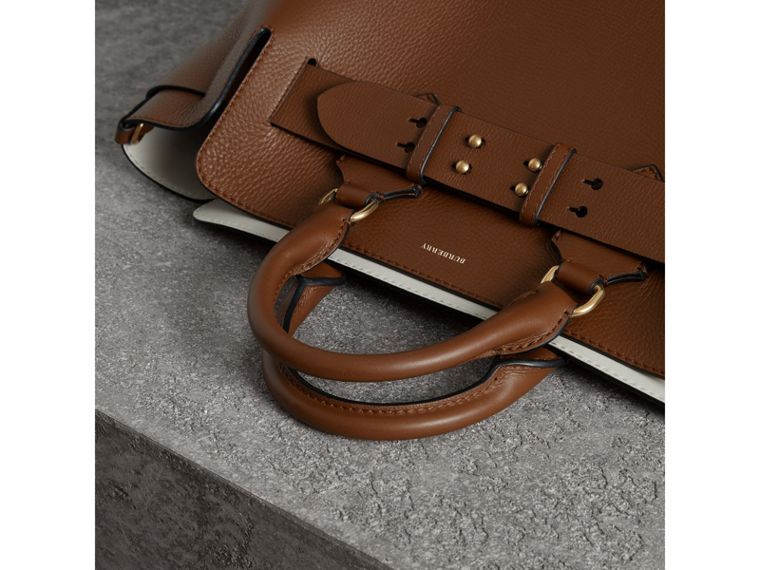 The Medium Leather Belt Bag in Tan - Women | Burberry Singapore - cell image 1