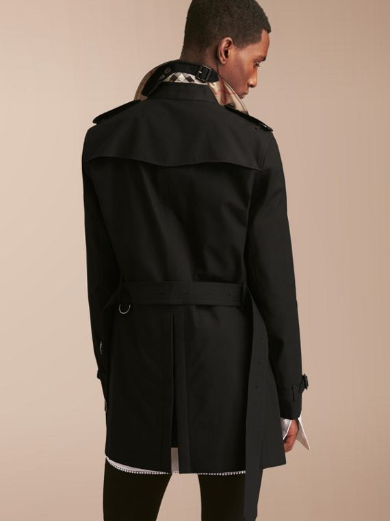 The Chelsea – Mid-length Heritage Trench Coat Black - cell image 2
