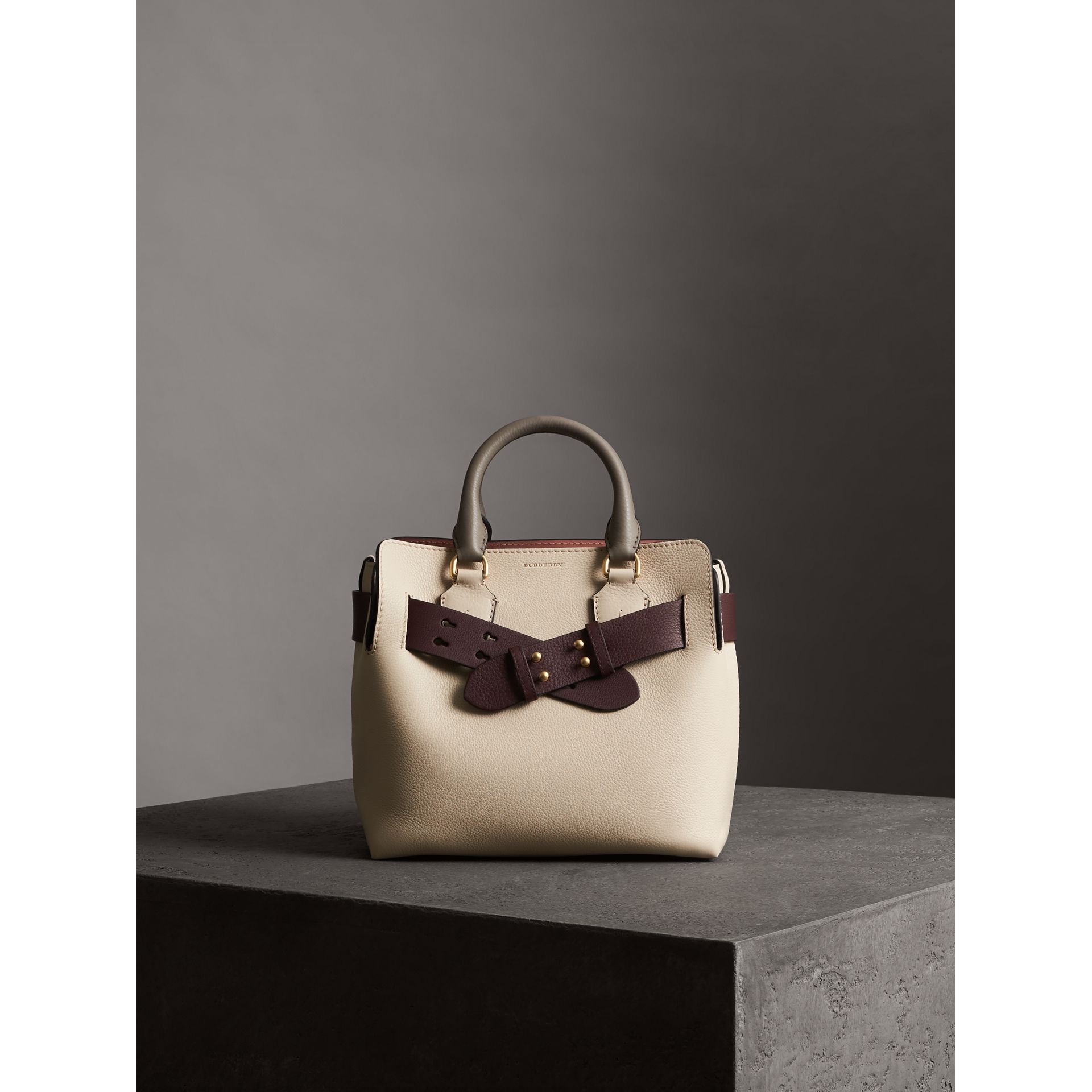 The Small Belt Bag Grainy Leather Belt in Deep Claret - Women | Burberry United States - gallery image 6