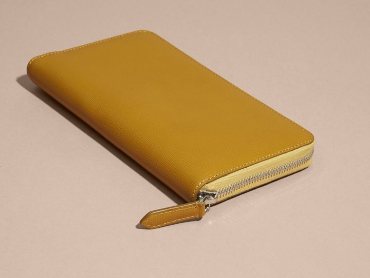 London Leather Ziparound Wallet in Larch Yellow - cell image 1