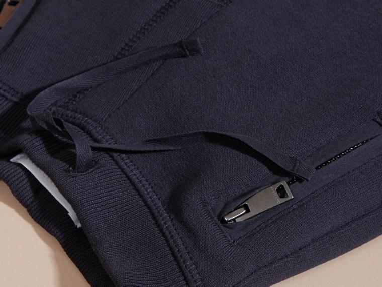Marine foncé Pantalon de survêtement en coton - cell image 1