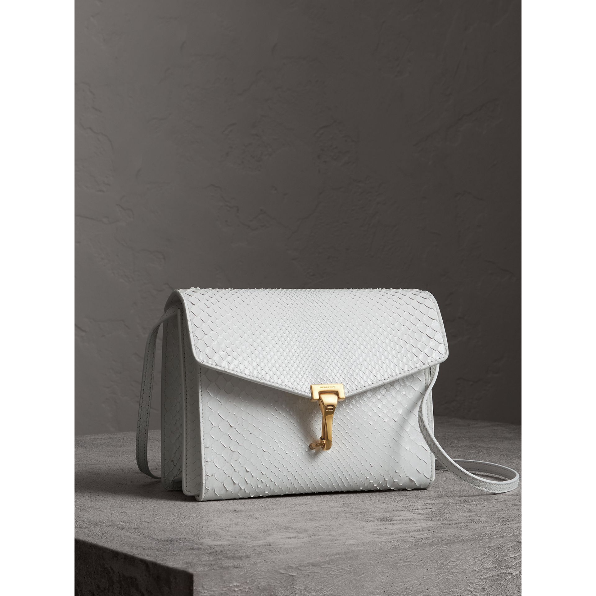Small Python Crossbody Bag in Chalk White - Women | Burberry Australia - gallery image 6