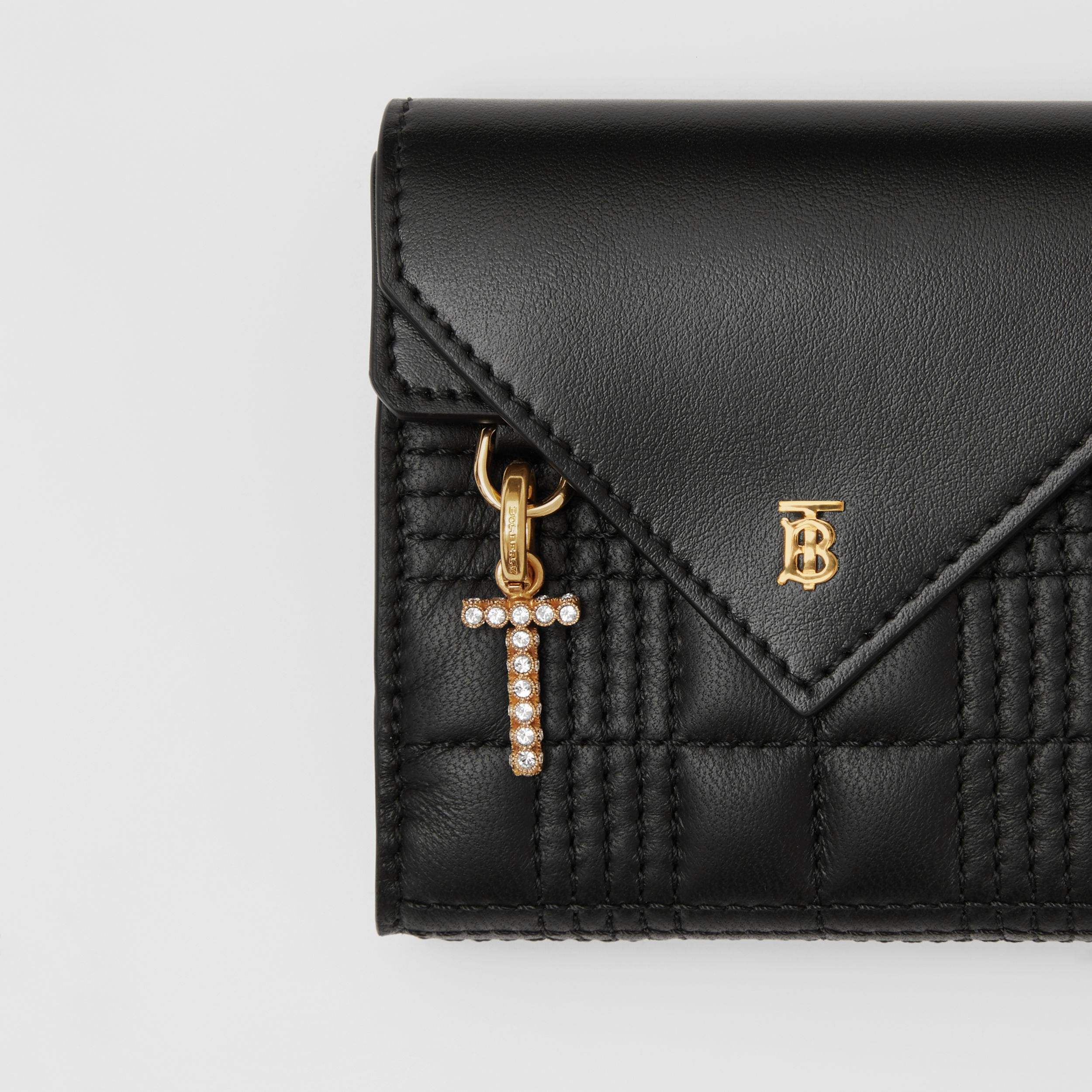 Quilted Lambskin Folding Wallet in Black - Women | Burberry - 2