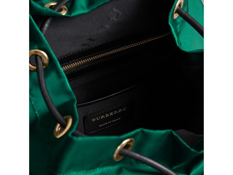 The Medium Rucksack in Technical Nylon and Leather in Pine Green - Women | Burberry - cell image 4