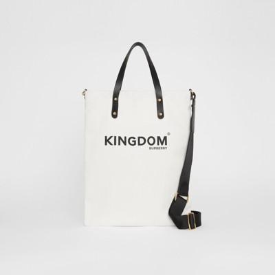 Tote in cotone con stampa Kingdom (Nero) | Burberry
