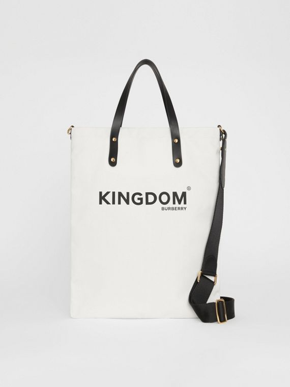 Kingdom Print Cotton Tote in Black