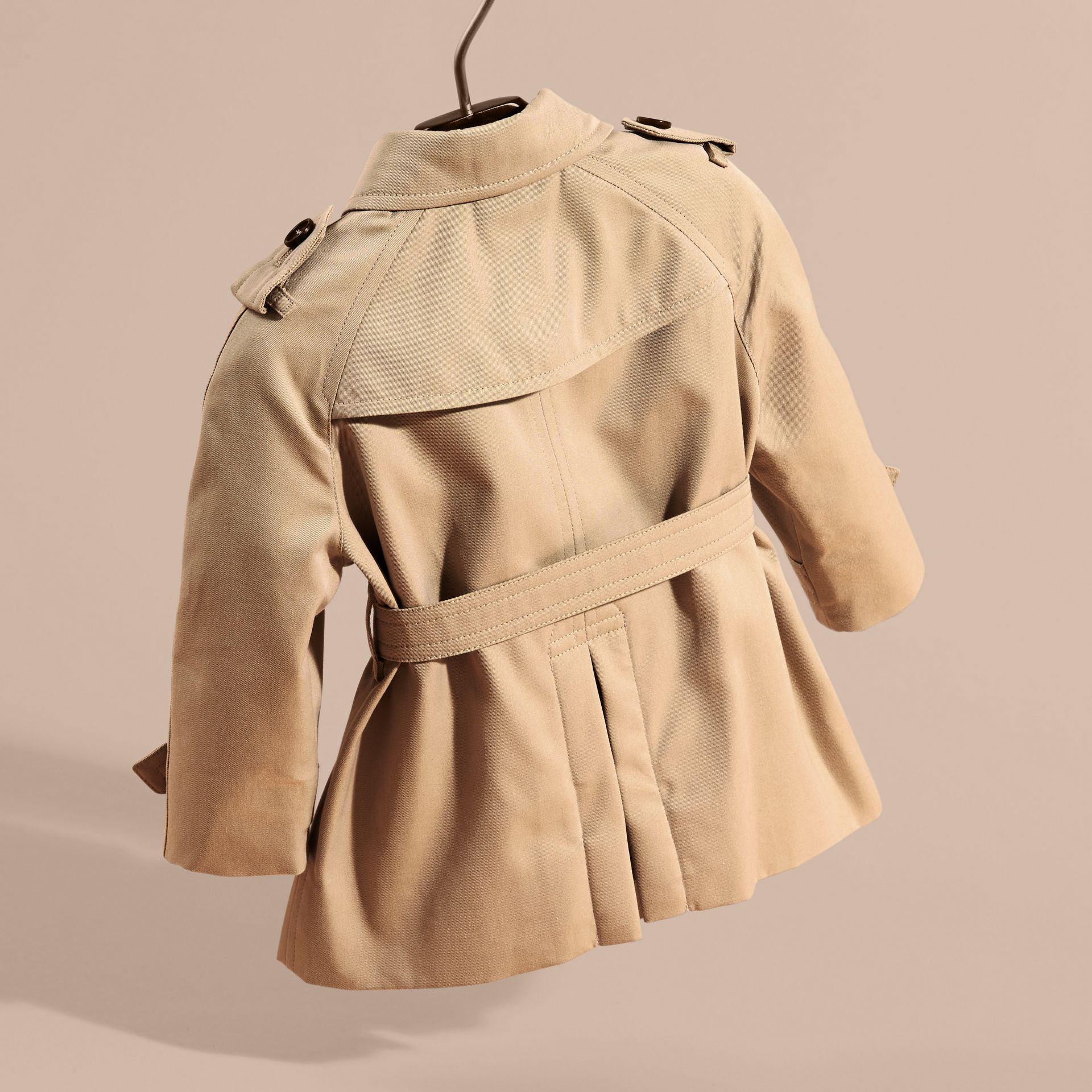 Cotton Trench Coat with Embroidered Weather Appliqués - gallery image 4