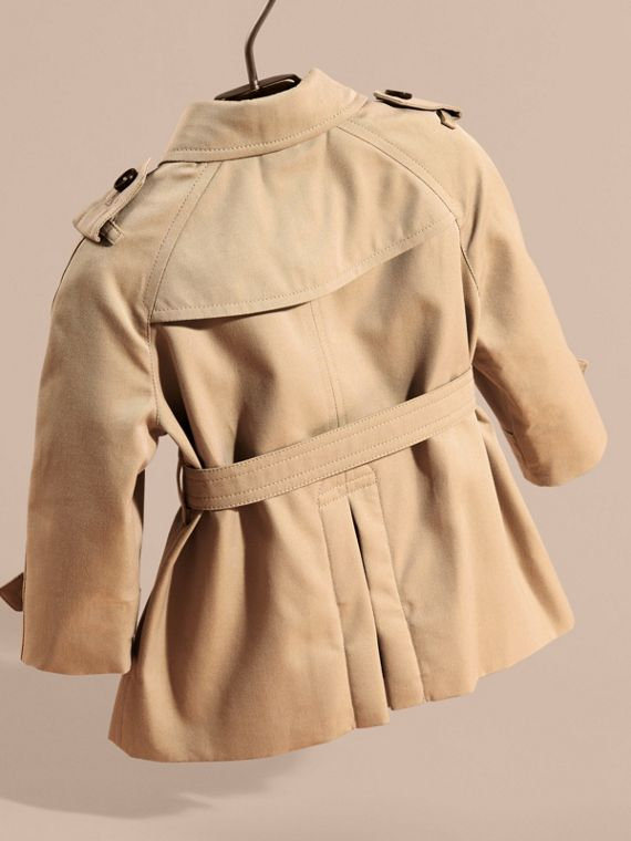 Cotton Trench Coat with Embroidered Weather Appliqués - cell image 3