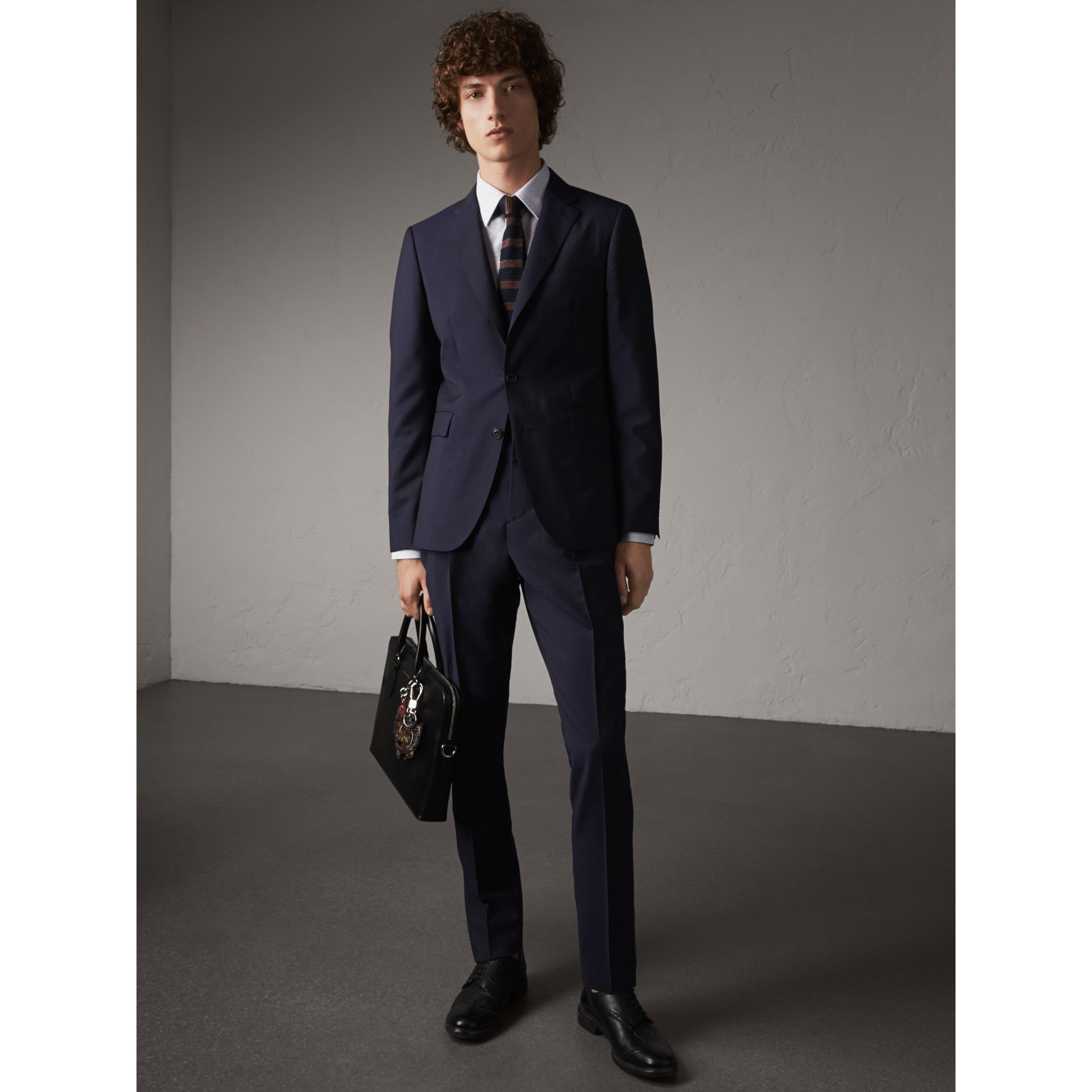 Soho Fit Wool Mohair Suit in Dark Navy - Men | Burberry - gallery image 10