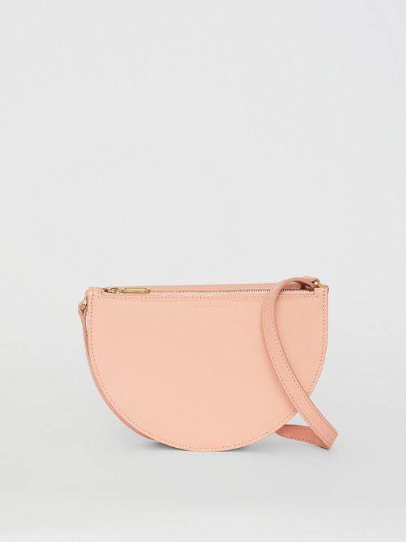 The Small Patent Leather D Bag in Pale Fawn Pink