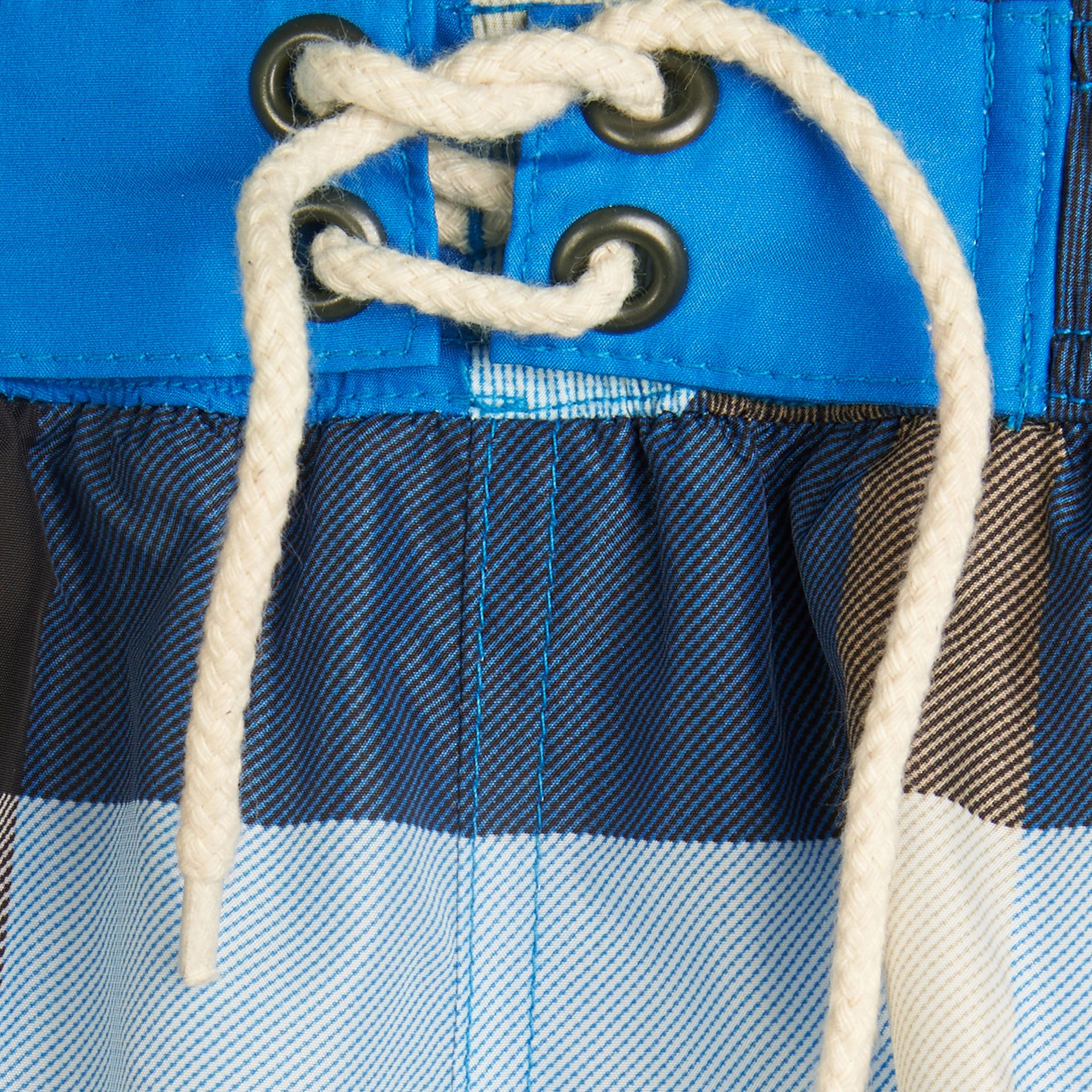Cerulean blue Check Swim Shorts Cerulean Blue - gallery image 2