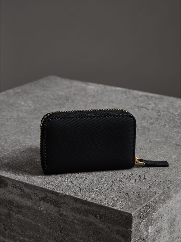 Trench Leather Ziparound Coin Case in Black - Men | Burberry - cell image 2