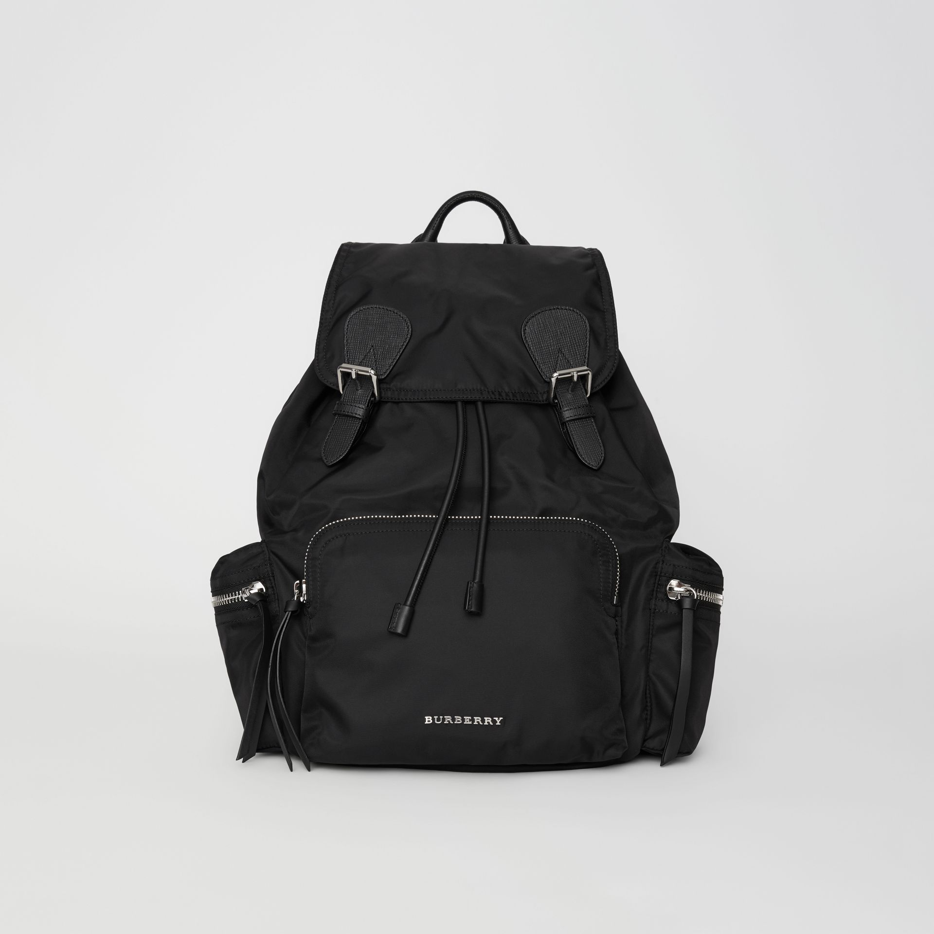 The Large Rucksack in Technical Nylon and Leather in Black - Women | Burberry Canada - gallery image 0