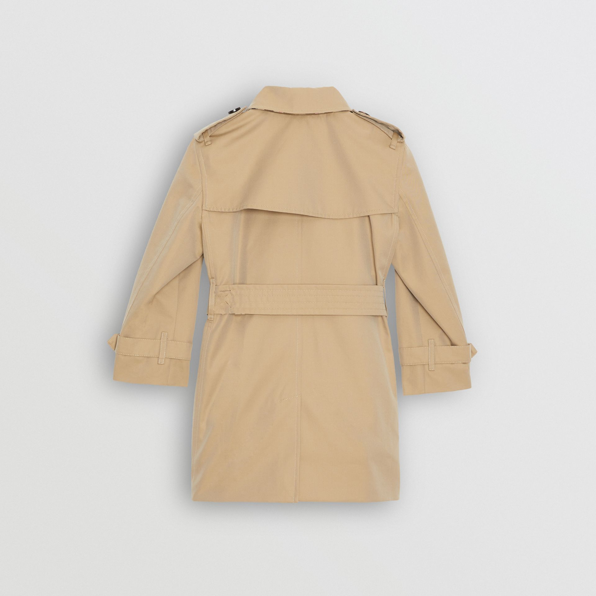 Cotton Gabardine Trench Coat in Honey | Burberry Australia - gallery image 4