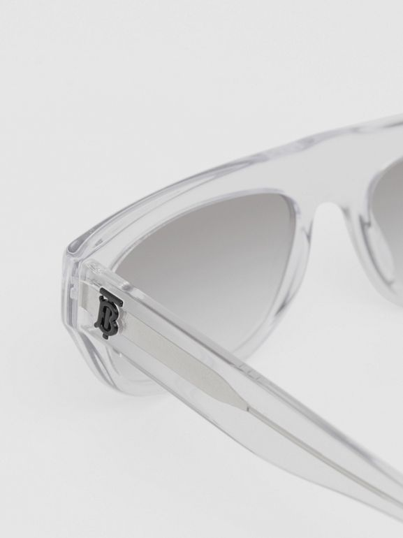 Monogram Motif Rectangular Frame Sunglasses in Crystal - Women | Burberry - cell image 1