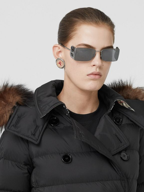 Detachable Hood Down-filled Coat in Black - Women | Burberry - cell image 1