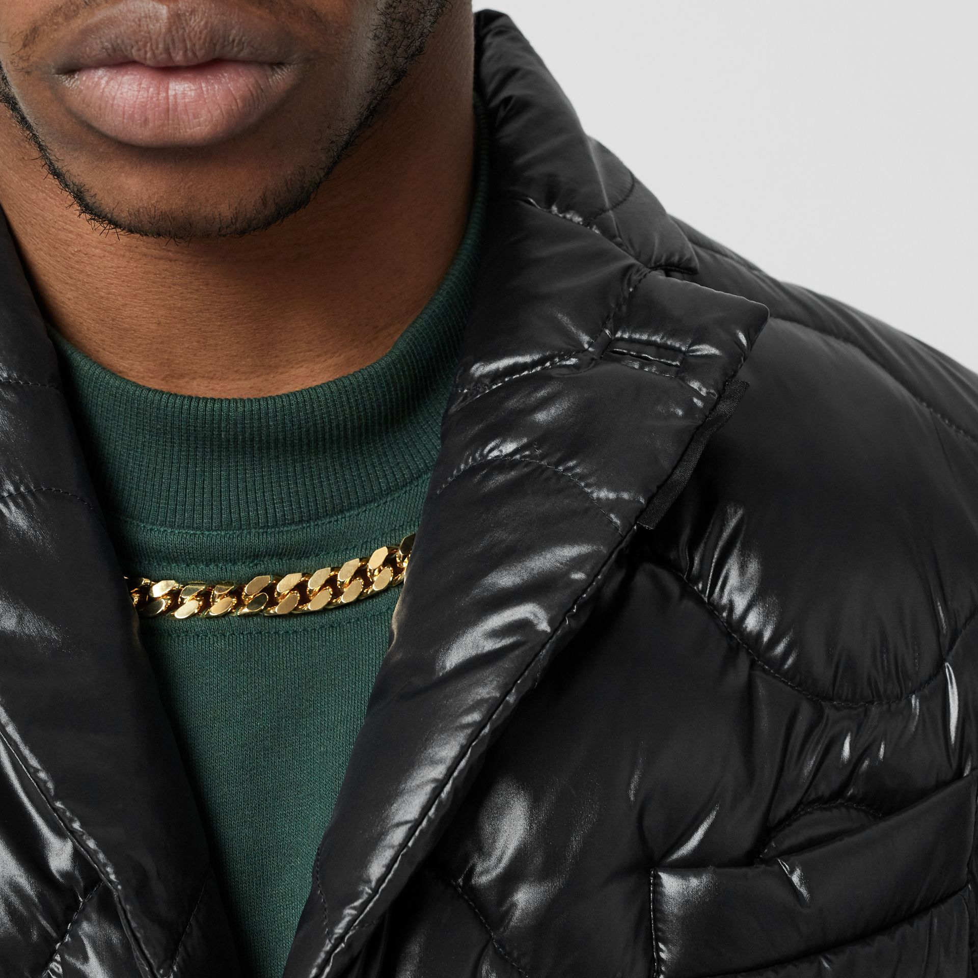 Nylon Puffer Blazer in Black - Men | Burberry - gallery image 7