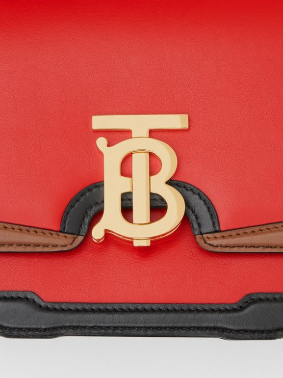Small Appliqué Leather TB Bag in Bright Red - Women | Burberry United States - cell image 1