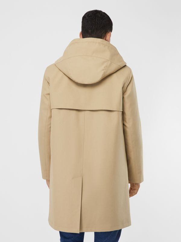 Cotton Gabardine Coat with Detachable Warmer in Honey - Men | Burberry - cell image 2