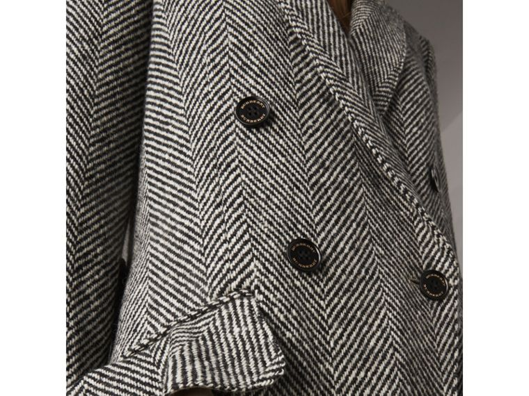 Donegal Herringbone Wool Tweed Tailored Coat - Women | Burberry Australia - cell image 4