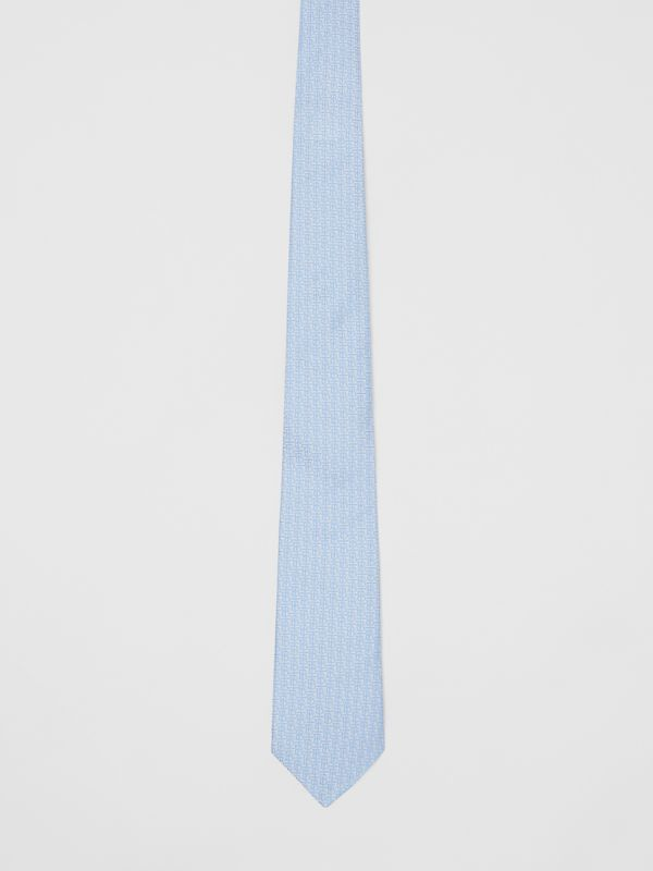 Classic Cut Monogram Silk Jacquard Tie in Pale Blue - Men | Burberry - cell image 3