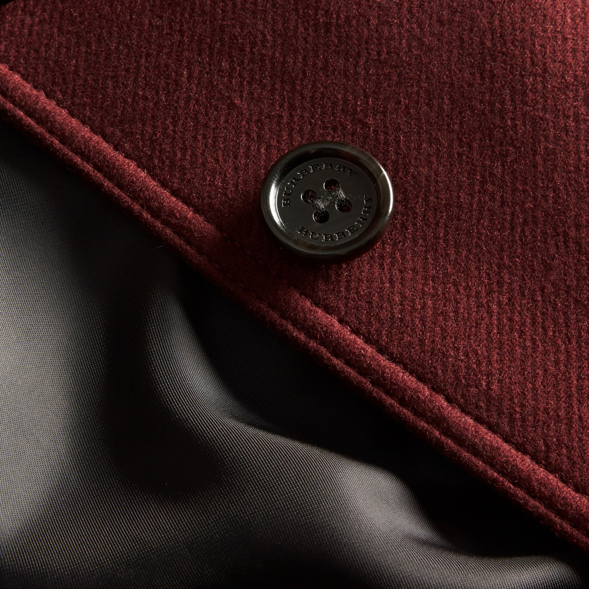 Technical Wool Cashmere Funnel Neck Coat - gallery image 2