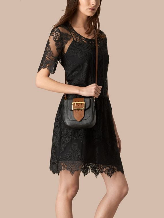Black The Small Square Buckle Bag in Leather - cell image 2