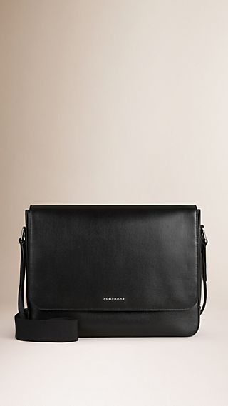 Petit sac Messenger en cuir London