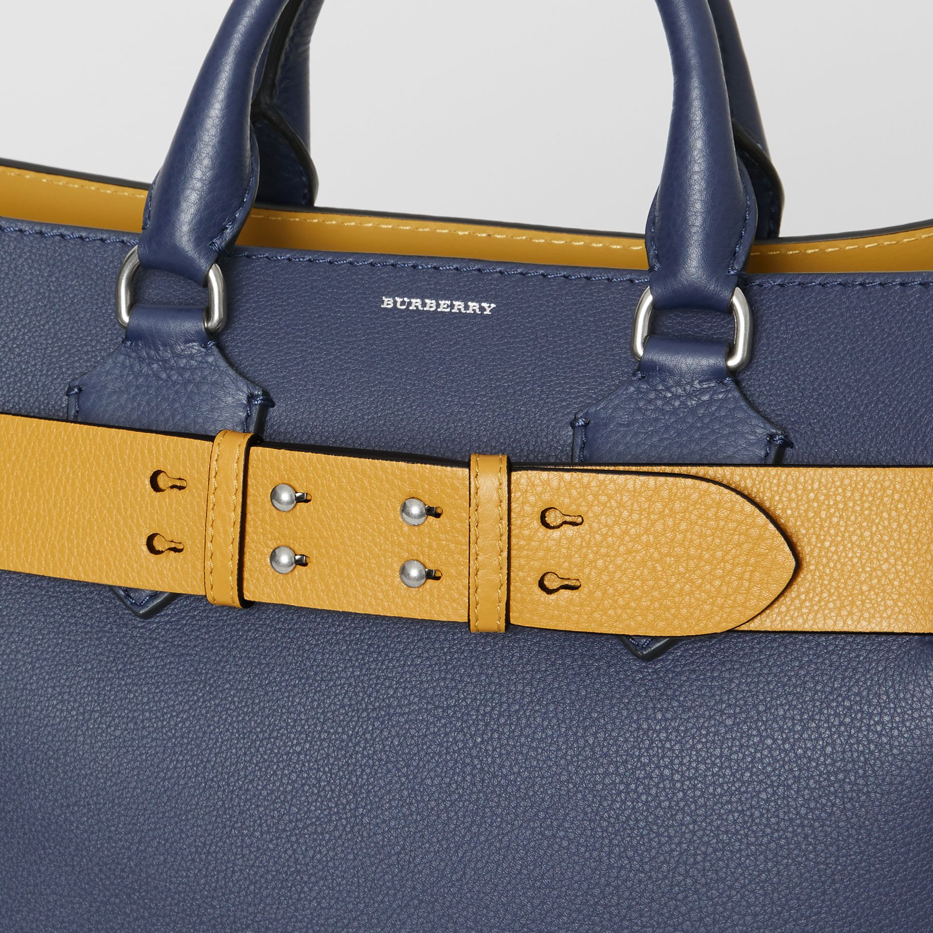 The Small Belt Bag Grainy Leather Belt in Cornflower Yellow - Women | Burberry United Kingdom - gallery image 1