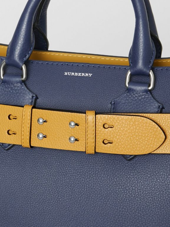 The Small Belt Bag Grainy Leather Belt in Cornflower Yellow - Women | Burberry United Kingdom - cell image 1