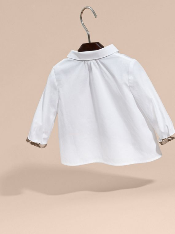 White Peter Pan Collar Cotton Shirt - cell image 3