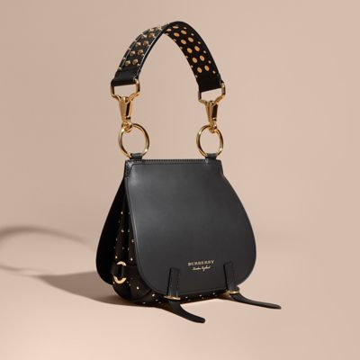 bf60db318833 The Bridle Bag in Leather and Rivets in Black - Women