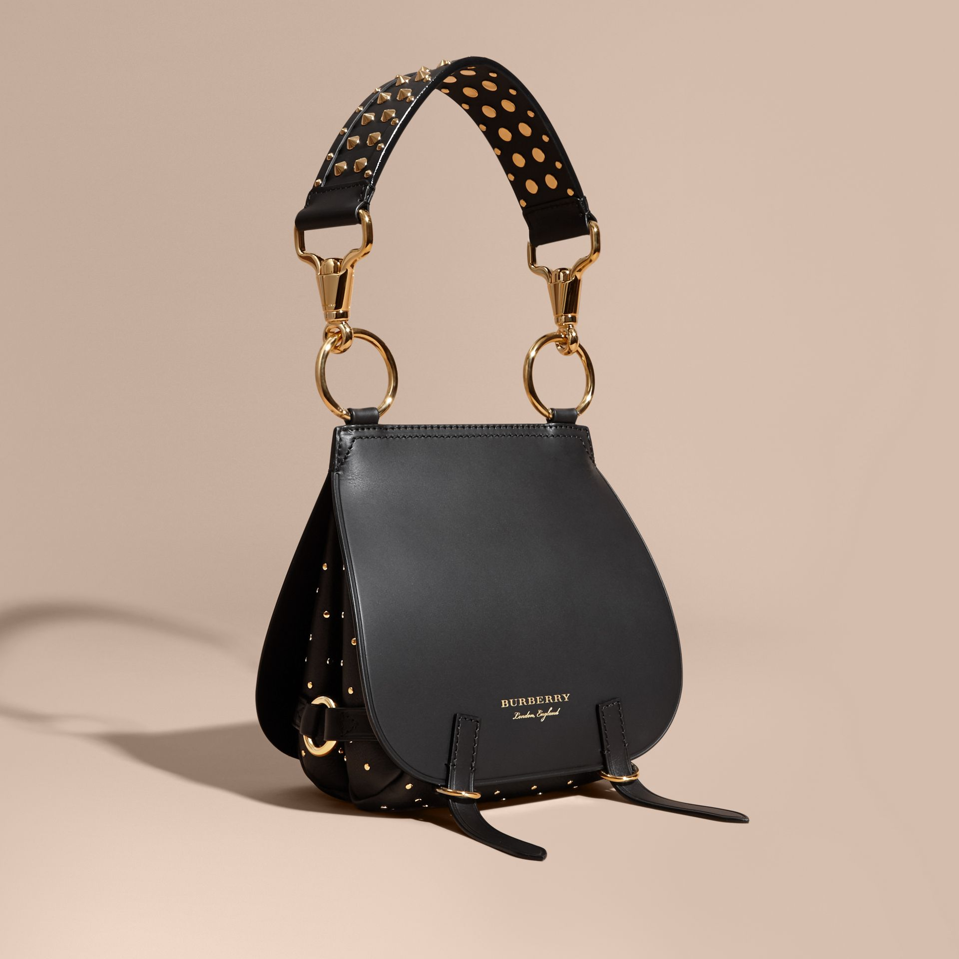 The Bridle Bag in Leather and Rivets in Black - Women | Burberry - gallery image 1