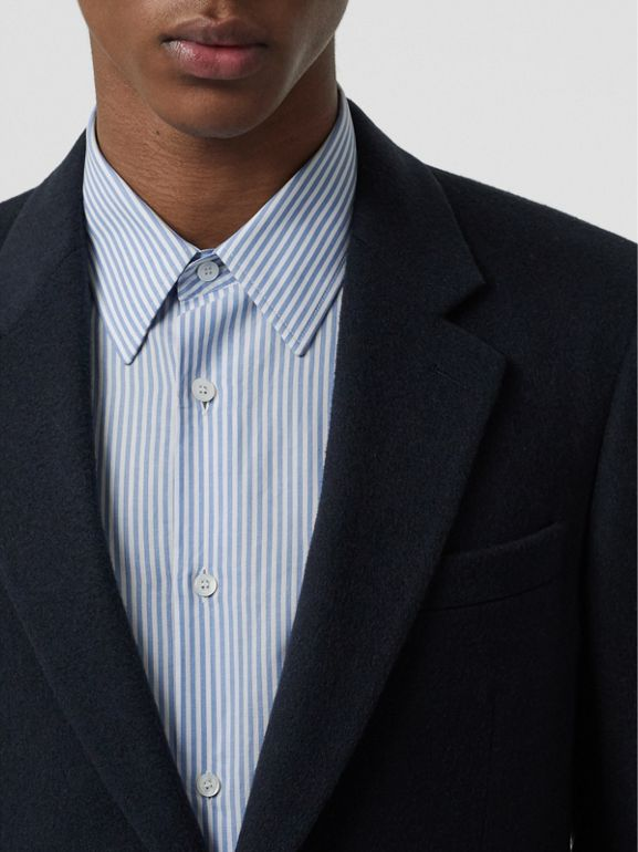Classic Fit Cashmere Tailored Jacket in Navy Melange - Men | Burberry - cell image 1