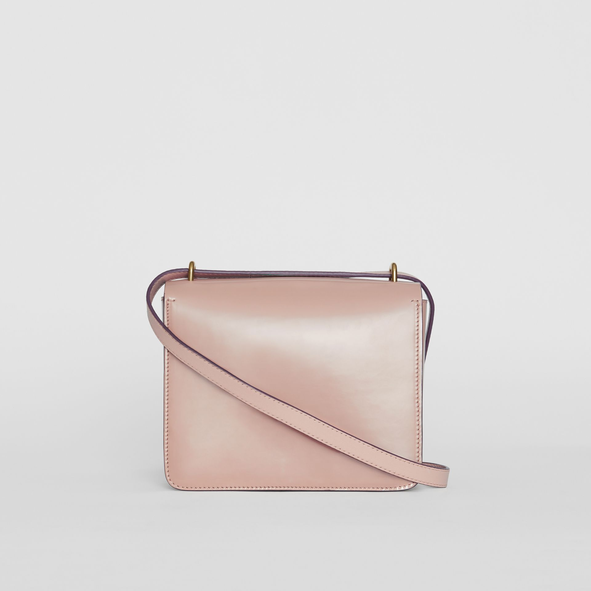 The Small Patent Leather D-ring Bag in Pale Fawn Pink - Women | Burberry United Kingdom - gallery image 5