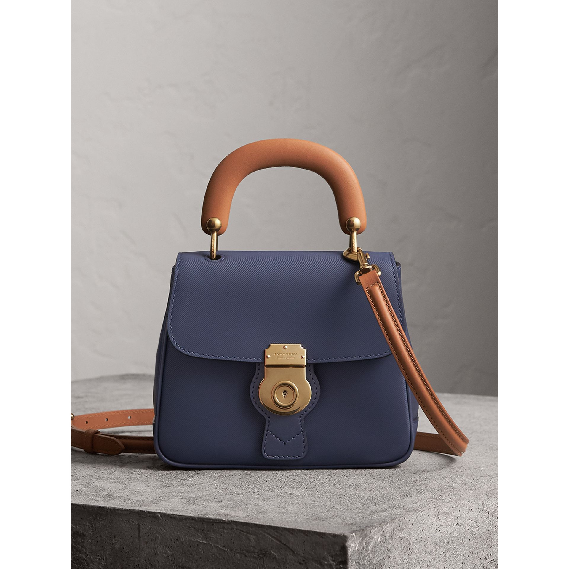 The Small DK88 Top Handle Bag in Ink Blue - Women | Burberry - gallery image 0