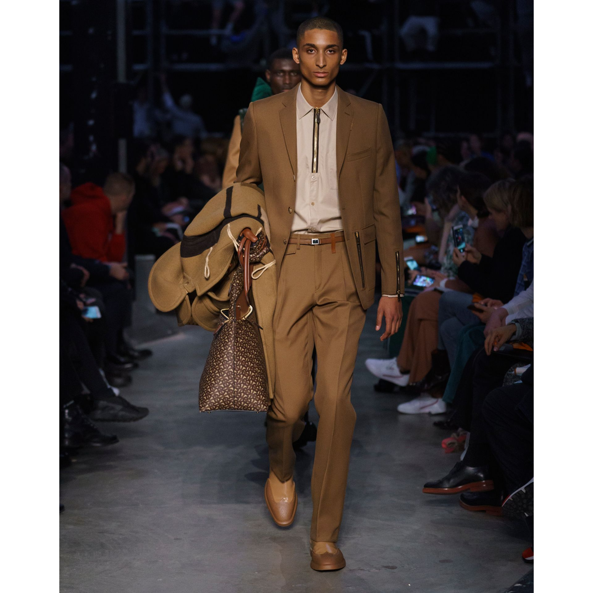 Panelled Wool Duffle Coat in Warm Camel - Men | Burberry Singapore - gallery image 6
