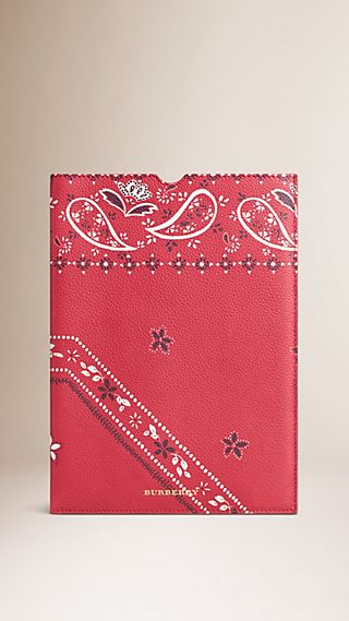 Floral Print Grainy Leather IPad Case
