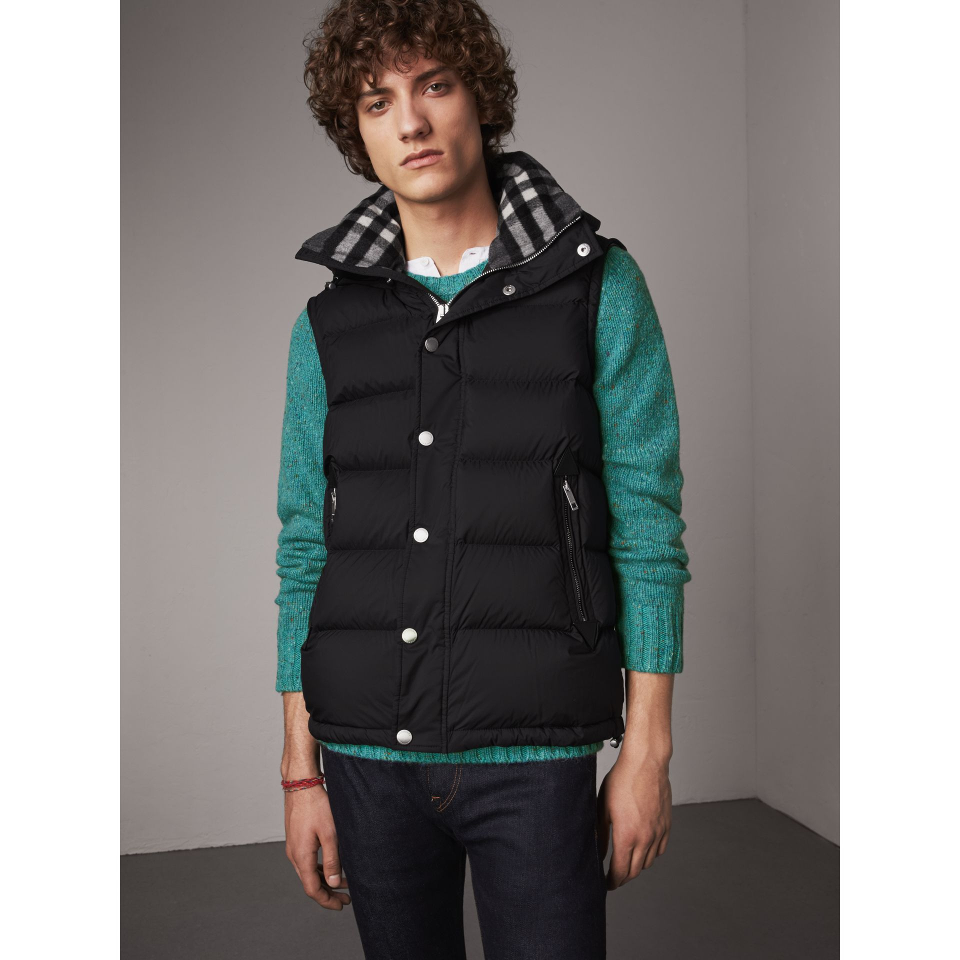 Detachable-sleeve Down-filled Puffer Jacket in Black - Men | Burberry United Kingdom - gallery image 5