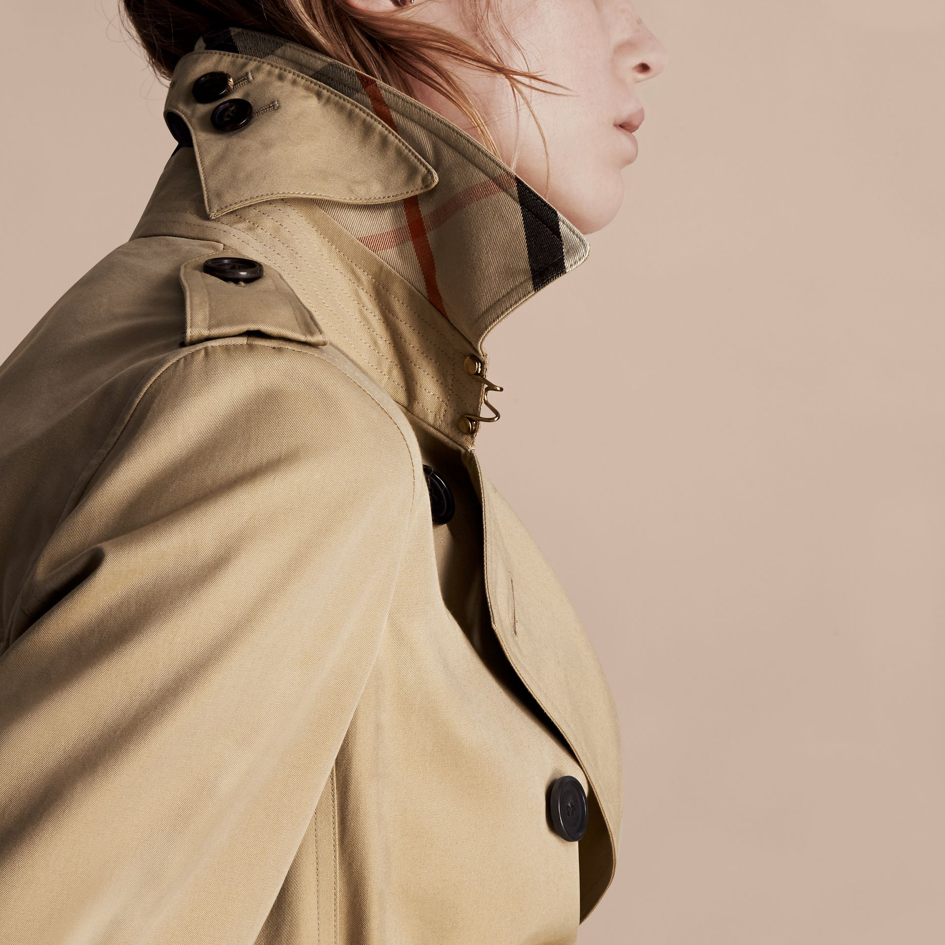 Honey The Kensington – Extra-long Heritage Trench Coat Honey - gallery image 5