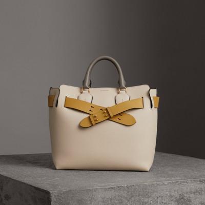 The Medium Tri-Tone Leather Belt Bag in Neutrals